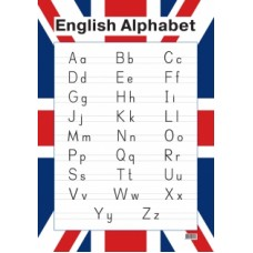 English Alphabet. Образцы письменных букв (настенный плакат)