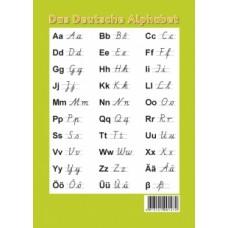 Das Deutche Alphabet. Образцы печатных и письменных букв (настольный плакат)
